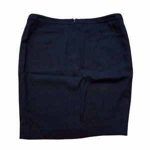 Escada Skirt Sz 44 or US 12 Back center zip Black